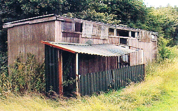 The 'football pavilion' where visiting players had to change .....