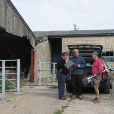 Garston Dairy with frontloader and team, Dominic Carney, Cris Verrinder, Brian Boisclere