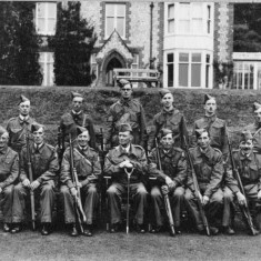 NCOs of Home Guard, with Commanding Officer Captain Frank Collyer, photographed outside the Vicarage.