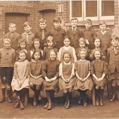 John Baker at East Meon National School. Tony Crockford back row third from right.