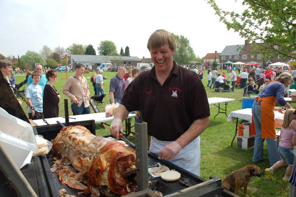 Matt Atkinson cooking hog roast