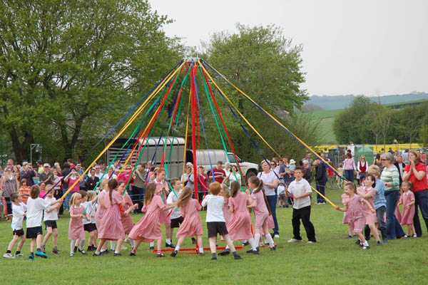 East Meon CoE Primary School, maypole dance.