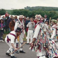 Morris dancers at an early Country Fair,