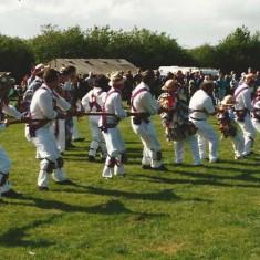 Morris men tug-of-war team