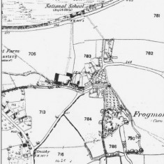 Ordnance Survey Map of Frogmore 1869