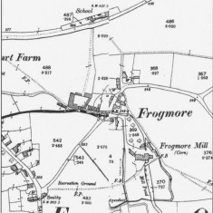 Ordnance Survey Map of Frogmore 1896