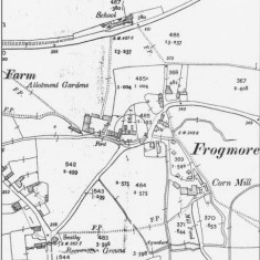 Ordnance Survey Map of Frogmore 1909