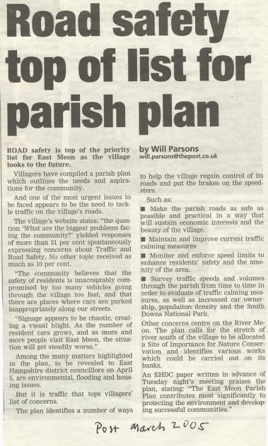 Parish Plan article, 2005
