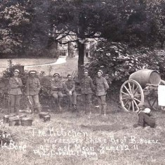 The Worcestershire Regiment bivouacking in East Meon in June 1911