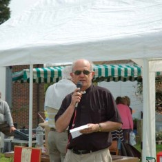 The Vicar, Rev Terry Louden, opening the Country Fair, 2008