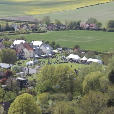 Aerial View of Country Fair, an event which has taken place every year since 1993.