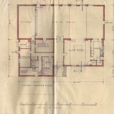 Early floor plan, with Club Room and Committee/Storage Room