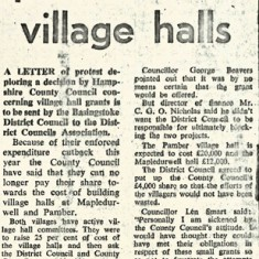 County to get protest over village halls Basingstoke Gazette 29 3 74