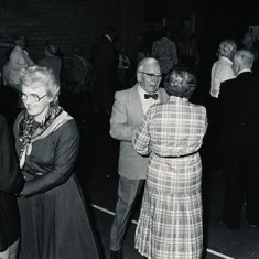 Dance in VIllage Hall. left to right, John and Jean Berry, John Witt