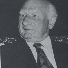 Herbie Goddard, Chairman of the Village Hall Committee, and of the Parish Council, during the development of the new Village Hall.