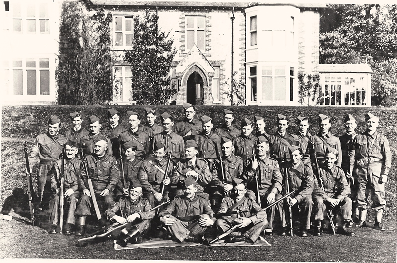 The Home Guard photographed outside the Vicarage, 1939/40
