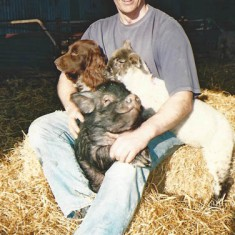 Matt Atkinson, regular committee member and organiser both of animal exhibits and of the pork roast at the Fairs