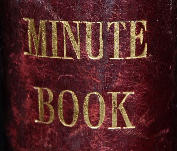 Institute Minutes book 1952 - 1973