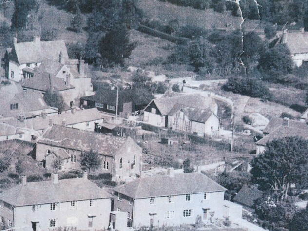 Part of the Institute can be seen at the left of this photo, with the rifle range between it and the Primitive Methodist Chapel.