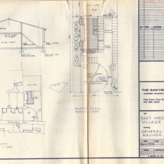 Architect's panel, end elevation, plan of landscape websize