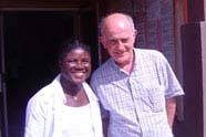 With Ama in Ghana, 2007
