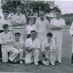 East Meon Cricket Club team in 1970.