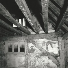 Beams in 1st floor, east end room.
