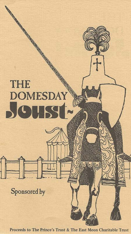 Domesday joust leaflet