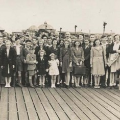 East Meon Youth Club Outing to Seaside, late '40s or early '50s