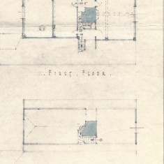 Brian Tyler drawing of first floor and attic floor