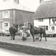 Graham and Cheryl Forrester (brother & sister) outside what was then the New Inn