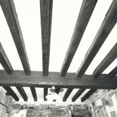 Ceiling beams of ground floor, room to east.