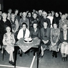 Back row, Ivy Cook, Shirley Kitcher, Mrs Bray, Nurse Day, Eileen Atkinson, Loreie Wilmot-Smith. 2nd row Audrey Street, Mrs Clitheroe, Mrs Aislewood, Rachel Mackinlay, Lettice Ross, Beryl Knight, Mrs Kille, Iris Porter. Front, Clarrie Fisher, Marion Lambert, Phyllis White, Dorrie Fisher.