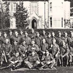World War II Home Guard, outside the vicarage. For the names, go to Wartime/Home Guard