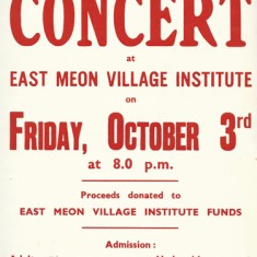 Poster promoting the group's concert supporting the re-building of the Institute, October 1969