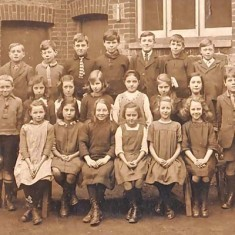 East Meon National School pupils, date unknown.