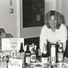Jenny Wheeler and son Alastair Wheeler at raffle