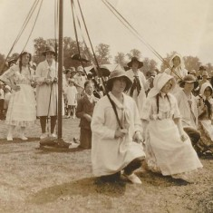 Maypole dancers, date unknown.