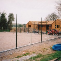 The new pavilion under construction in 2003.