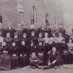Group outside Primitive Methodist Chapel, 1893