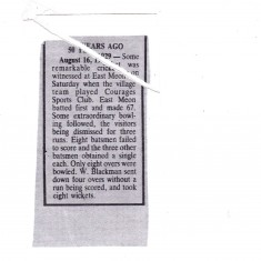 News article reporting the feat of W Blackman.