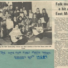This article and photograph of the group appeared in  February 1969.