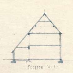 Elevation of building before restoration