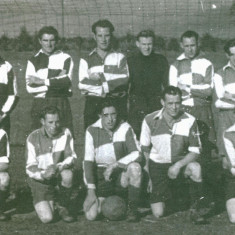 Soccer team, date unknown, G.Newbury, J.Allan, G.Maw, L Andford, J.Brown, front, row, F.Hartlay, R.Watts