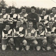 L to R, back row, Archie Searle, Pat Fielder, John Berry, Reg Hobbs, Dick Berry, Bob Coles. Front row Fred Hartley, Terry Fielder, Les Emery, John Tosdevine, Ted Richards (from Berry collection, copyright Chas White of Midhurst}
