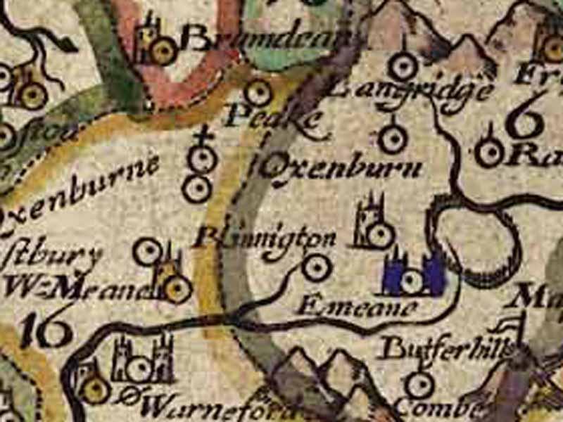 john Norden's spellings, 1595.