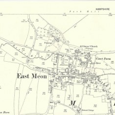 1896 map of East Meon. Providence chapel not shown, Baptist where Zoar was previously.