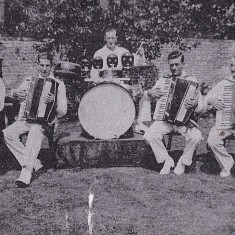 Band, late 1930s. Mrs Smith, George Blackman, William Blackman, Bert Lambert