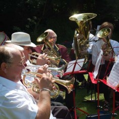 Blendworth Brass Band regularly provide the music