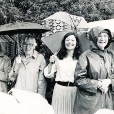 left to right, Audrey Street, Mrs Fisher, Bridget Lambert, Betty May (District Nurse) and Rosemary Ryder